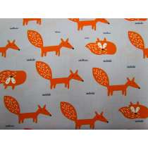 Fox Friends Cotton- Grey #2714