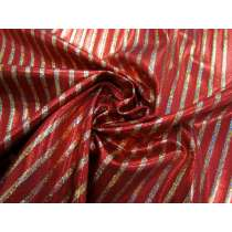 Fog Finish Cabaret Stripe Spandex- Red / Gold #2766
