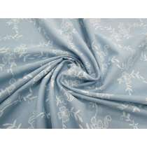 Embroidered Look Chambray- Light Blue #2820
