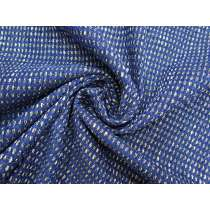 Metallic Blue Check Boucle #2827