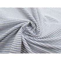 Linen Cotton Sandbar Stripe- Blue #2828