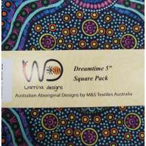 "Dreamtime 5"" Square Charm Pack- Purple Colour Theme"