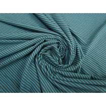 Thin Stripe Jersey- Teal/Grey #2855