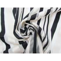 Ribbon Stripe Organza- Black/White #2857