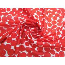 Freckles Silk Cotton Voile- Red #2874