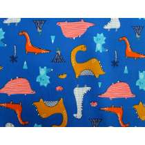 Dino Days Cotton- Blue #2888