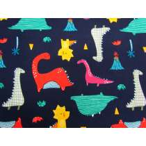 Dino Day Cotton- Navy #2890
