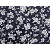 Zen Garden Cotton- Navy #2894