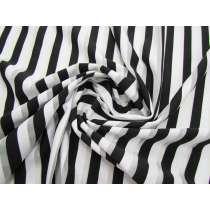 Sheer Stripe Spandex- Liquorice #2905