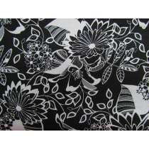 Black & White- Jungle Cotton #2921