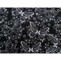 Black & White- Butterfly Cotton #2922
