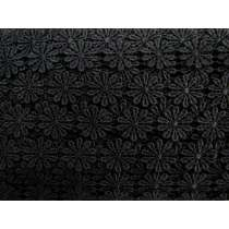 25mm Flower Power Lace Trim- Black #230