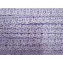 25mm Stella Stretch Lace Trim- Purple #243