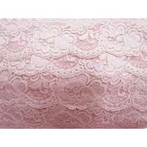 85mm Giselle Stretch Floral Lace Trim- French Rose #262