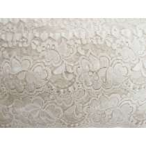 85mm Giselle Stretch Floral Lace Trim- Pearl Beige #263