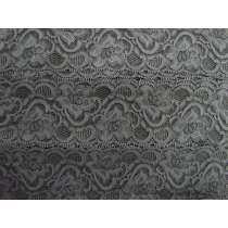 55mm Josephine Stretch Floral Lace Trim- Grey #269