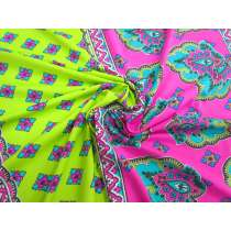 Travel Scrapbook Spandex- Lime/Pink #2942