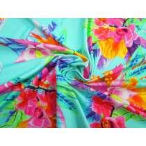 Tahiti Floral Spandex- Turquoise #2944