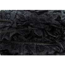 40mm Audrey Lace Frill Trim- Black #289