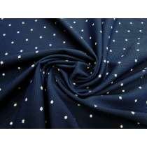 Freckle Spot Waffle Bubble Spandex- Navy #2954