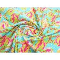 Noosa Floral Metallic Stripe Spandex #2962