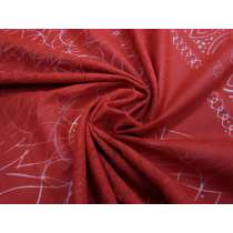 Spiral Linen Cotton- Volcanic Red 2980