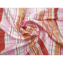 Retro Check Silk Satin #2998