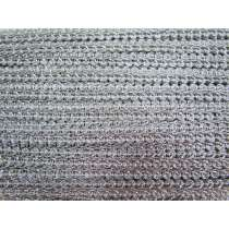 12mm Metallic Braid- Silver #295