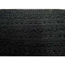 55mm Naomi Fringe Cotton Lace Trim- Black #308