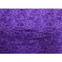 90mm Gabriella Lace Trim- Purple #317