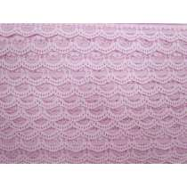 25mm Amelia Scroll Lace Trim- Pink #329
