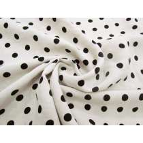 Velvet Spot Linen- Black on Natural #3023