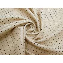 Mini Velvet Spot Linen- Black on Natural #3025