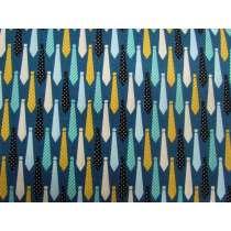 Neck Tie Cotton- Blue #3127