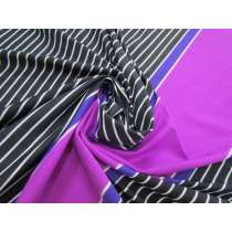 Laser Light Stripe Spandex Panel- Grape #3148