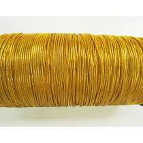 2mm Round Elastic- Metallic Gold #343