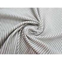 Ridge Stripe Double Knit- Grey on Cream #3180