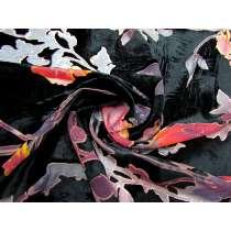Midnight Floral Rayon Burnout Velvet #3267