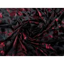 Bewitching Rose Stretch Burnout Velvet #3307
