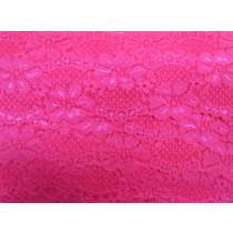 60mm Stretch Lace Trim- Sizzling Pink #352