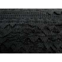 60mm Sienna Rayon Lace Trim- Black #355