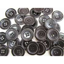 35mm Large Black Fashion Button FB165