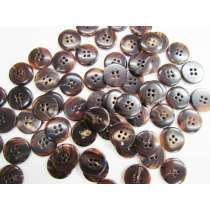 17mm Brown Tones Fashion Button FB178