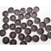 18mm Dark Plum Fashion Button FB179