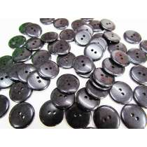 19mm Black Spotted Fashion Button FB190