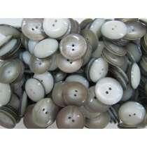 23mm Curved Grey Fashion Button FB194