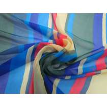 Exuberant Stripe Silk Chiffon #3396