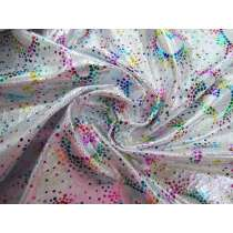 Rainbow Love Foil Fog Finish Spandex #3431