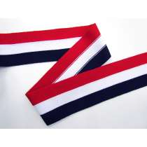 70mm Thick Rib Trim- Navy, Red & White #3505