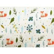 Fox In The Woods Cotton- Cream/Multi